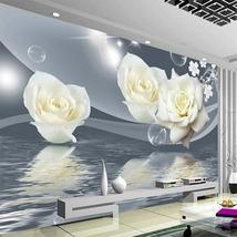 """3D Wallpaper """"White Rose"""" - $35.00+"""