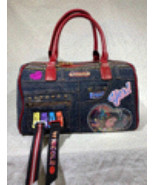 Nicole Lee Ivette Poses on the NY Sunset Denim Boston Bag - £69.08 GBP