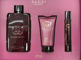 Gucci Guilty Absolute Pour Femme Perfume 3.0 Oz Eau De Parfum Spray 3 Pcs Set image 6