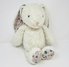 First Impressions 2018 White Bunny Rabbit W/ Flowers Stuffed Animal Plush Toy - $55.17