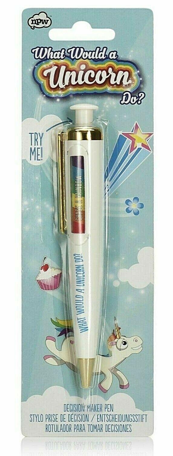 NPW What Would Stuart a Unicorn Do Dilemma Decision Maker Rainbow Pen 45819 NIB
