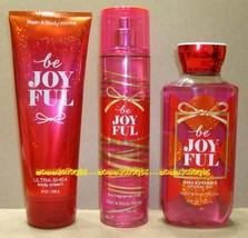 Be Joyful Bath Body Works Fragrance Mist Body Cream Shower Gel Full Size - $33.00