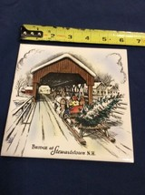 Vintage Trivet Ceramic Accent Wall Tile Stewartstown NH New Hampshire (B... - $10.93
