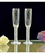 Pair of Rare Lalique Vendome Toasting Champagne Flutes Great Wedding Gif... - $359.87