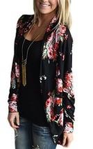 ECOWISH Womens Boho Irregular Long Sleeve Wrap Kimono Cardigans Casual C... - $30.41