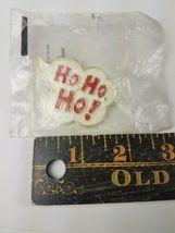 1982 Hallmark Holiday Christmas Pin White Thought Bubble Cloud Ho, Ho, Ho image 3