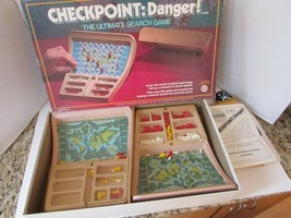 VTG 1978 IDEAL TOY #2719-3 CHECKPOINT: DANGER!  SEARCH GAME USE FOR PARTS - $6.85