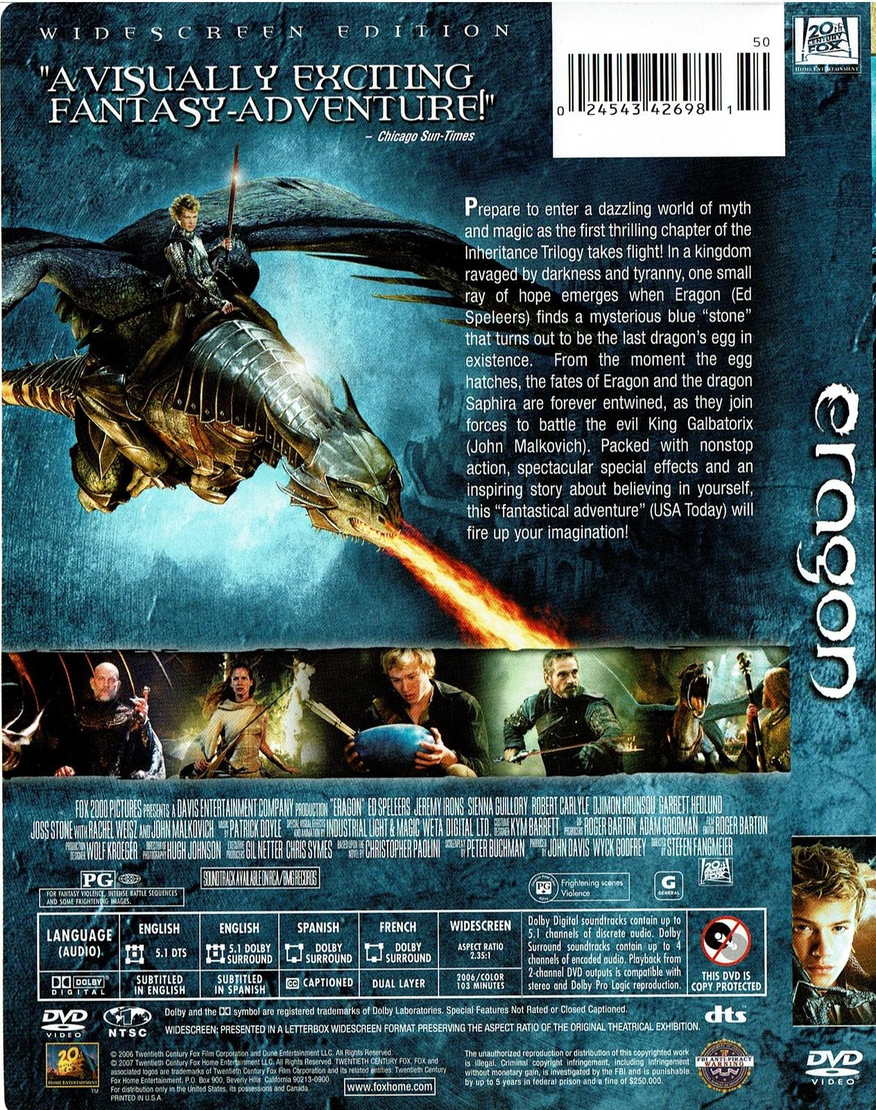 Eragon, DVD, Widescreen Edition, 2007