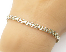 925 Sterling Silver - Petite Intricate Chain Bracelet - B1750 - $27.82
