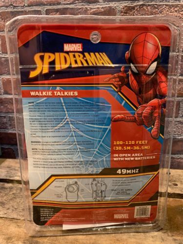 Marvel Spider-Man Walkie Talkie Nuovo Giocattolo