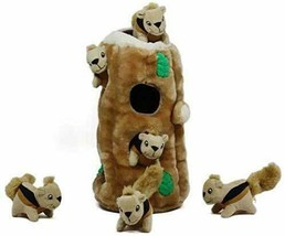 Outward Hound Hide-A-Squirrel Puzzle Plush Squeaking Toys Dogs - £22.79 GBP