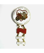 Touring Riders Association Motorcycle Club Attendance Award Pin with 3 D... - $9.50