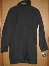 Womens M Eddie Bauer WeatherEdge Black Detachable Hood Winter Coat Jacke... - $60.39