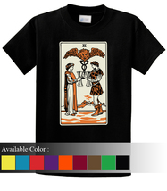 Tarot Two Of Cups Funny Men's T-Shirt Size S-3xl - $19.00