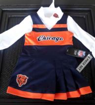 New Chicago Bears NFL Toddler Girl 2 pc Cheerleader Set Romper Dress 18 ... - $18.80