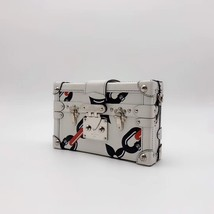 100% AUTH LOUISE VUITTON PETITE MALLE EPI WHITE CHAIN BAG LEATHER image 4