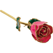 Lacquered Magenta Rose with Gold Trim - $85.99