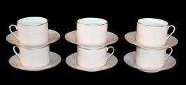12-Pc Fitz & Floyd ADOBE PEACH Cups (6) & Saucers (6) Gold Accents NEW D... - $69.99
