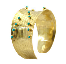 Multi Gold Plated Fashion exquisite Turquoise indian Bangle AU gift - $20.45