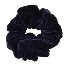 [Dark Blue] Elegant Flannel Elastics Ponytail Holder Scrunchie Hair Ties... - $14.97