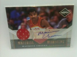 Maurice Cheeks 2010-11 Panini Limited Material Monikers auto/jersey card... - $4.20