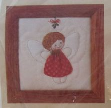 1989 Creative Circle Stuffed Little Quilted Christmas Angel Embroidery Kit 5 x 5 - $14.99