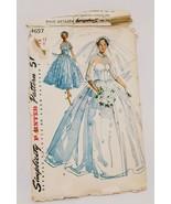 Wedding Bridal Formal Bridesmaid Dress Pattern Simplicity 4697 Size 12 P... - $19.99