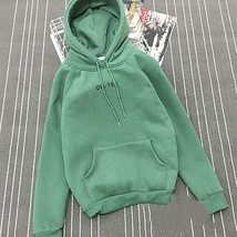 Autumn Simple Letter Printing Hoody Woman Pocket Slim Fit O-Neck Pullovers Women image 4