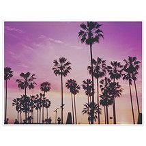 Sunset And Palm Trees Photography Wall Art Poster - $22.28