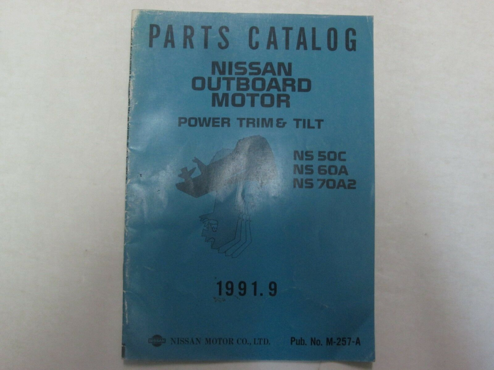 Primary image for 1991 Teile Katalog Nissan Outboard Motor Power Rand und Neigung NS 50C 60A 70A2