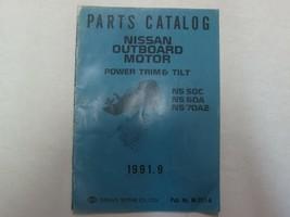 1991 Teile Katalog Nissan Outboard Motor Power Rand und Neigung NS 50C 6... - $21.73