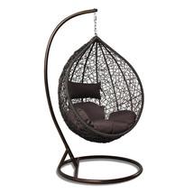 Tear Drop Outdoor Hanging Hammock Wicker Swing Chair Egg Shape New - $549.00