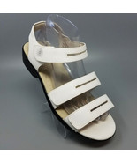 Propet White Leather Strappy Sandals Low Heel Shoes W0213 Womens 7.5X (2... - $30.26