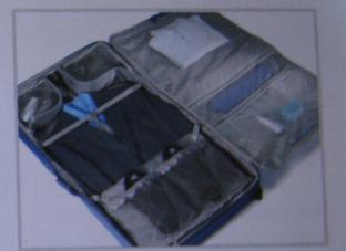 "SAMSONITE ""PERIMETER"" WHEELED GARMENT BAG BLUE SOLID 23"" L x 22"" W x 8"" D NEW"