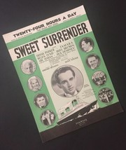 Vtg Twenty Four Hours A Day Carl Laemmle Sweet Surrender Sheet Music Col... - $9.89
