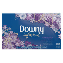 Downy Infusions Lavender Serenity Fabric Softener Dryer Sheets, 105 coun... - $14.98
