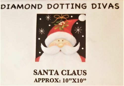 """Diamond Dot Painting Santa Claus 10"""" x 10"""""""
