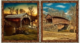 "Artworks VII ""Covered Bridges"" Digital Panel by Quilting Treasures - $8.01"