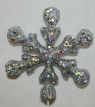 Tii Collections X6583 Glittery Silver Decoration Snowflake image 2