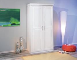 2 Door Wardrobe Closet Storage Organizer Clothes Bedroom Furniture White - $478.62