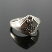 Vintage 925 Sterling Silver Boy Scouts BSA Cub Camping Survival Size 5 Ring 3.4g - $17.81
