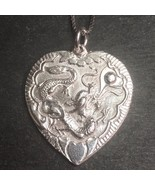 New Handcrafted 925 Silver Chinese Double Happiness for Wedding Dragon &... - $38.94