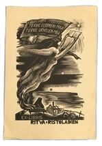 Ex Libris Exlibris Bookplate Rita Ristolainen Terse Suomeni Ma'am Urhojen - $29.69