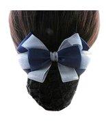 Elastic Bun Bow Hair Snood Net Barrette Clip for Office Nurse Banks Rest... - $22.58