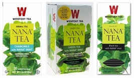 Wissotzky Nana Tea Selection, Chamomile Nana, Green Tea & Black Tea, 3 packs   - $18.55