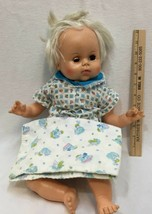 Horseman Doll Soft Body w/ Plastic Head Arms Legs Blinking Eyes and Blanket - $14.84
