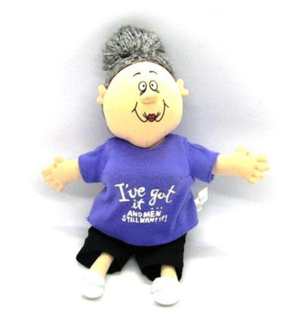Russ Sassy Grannie Doll I'VE GOT IT &  MEN STILL WANT IT! Plush Stuffed Toy - $9.89
