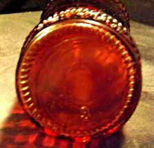 Red decorative bottle with cork AA19-1572 Vintage image 4