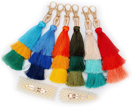Colorful Tassel Boho Pom Pom Intense Vibrant Colors Womens Accessories S... - $11.87