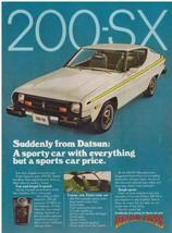 Original 1977 Datsun 200-SX Vintage Print Ad - $7.49